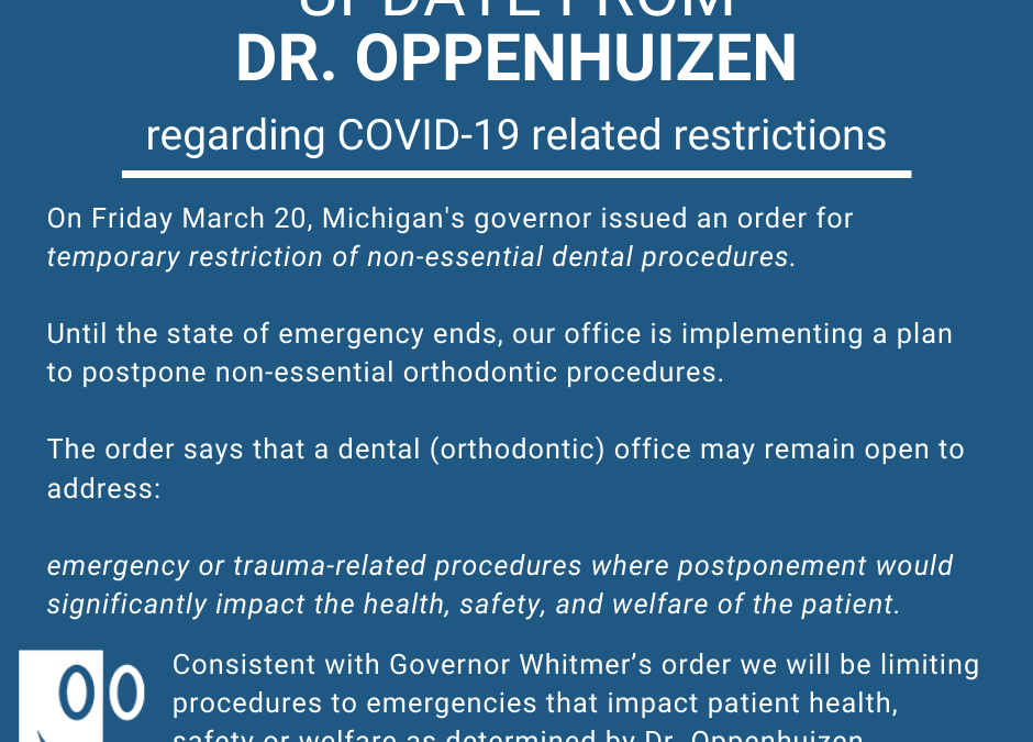 COVID-19 and Temporary Restrictions